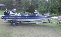 2008 BASS TRACKER 175 PRO TEAM TXW WITH MERCURY 50HP FISHING BOAT.MERCURY 50 HP TWO STROKE ENGINE.TRACKER FACTORY MATCHED TRAILER.CLEAN CLEAR TITLE TO BOAT + TRAILER.ONLY 20 HOURS ON BOAT/ENGINE.PLENTY OF STORAGE.VERY NICE LARGE LIVE WELL.TROLLING