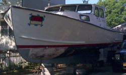 Please call my husband at 631-524-7846 and leave a message if you're interested in discussing or seeing the boat. Thank you.--- Project Boat --- 1988 35' Young Brothers Downeast ---Posted on multiple sites.- Boat has a 7.4 Mercruiser gas engine set up to