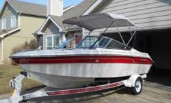 1991 Regal Valanti 170 - Fantatic Starter Boat!!! 17ft. open bow ski boat, I/O MerCruiser, 115hp. New Bimini top installed in 2011, as well as new depth / fish finder, and anchor. TRAILER INCLUDED!!! Boat is in fantastic condition, stored in garage, and