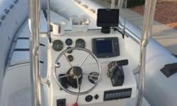 Italian made rib boat. 24 ft and hold up to 20 people. Many people do not know these boat!!! Coast Guards and military use these types of boat because it don't sink and rides really really nice!! ETEC 250 outboard engine 300 hr. maintenance services just