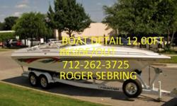 """L@@k((DETAILING IS ALL I DO ))))Roger Sebring's Auto Detailing 11 W 2nd St.Spencer,IA 51301 Wash.Wax.Buff.Vac.Shampoo Carpets and Uphoistery Premium Leather Cleaning & Conditioning Cars $225.00 Vans $300.00-Boats $12.00 FT. Motorcycles Drop Off or Pick"