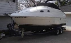 "For sale is my 2003 Regal 2465, cabin cruiser. Great boat! LOA 26'11"" Beam 8'6"". Mercruiser 5.0 MPI W/ Bravo 3 drive. Boat has 400 hours, engine was replaced 125 hours ago with a new Mercruiser engine by a certified Mercruiser dealer. Great on fuel. This"