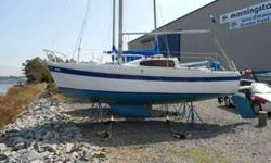 Good shape and ready to go! no gas needed. Incl. three sails, Nissan 9.9 HORSEPOWER. Sleeps five , Heat & AIR CONDITIONED, Swim platform .Will pull and painted bottom for new owner.Also just replaced both windows and all hatches where replaced with star
