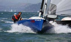 Very nice boat for day sailing or racing in the bay. More than 12 other Open 5.70 in the bay.Can be singlehanded, or sailed with up to 4/5 people. Easy to sail, but also very fun and fast.Very easy and cheap to maintain.Open 5.70 (USA 276) Dark blue hull,