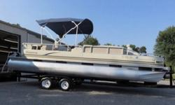 "laybuoy Has An Enormous Amount Of Standard Features. Owners Will Enjoy The Stereo, 10 Foot Bimini Top, Twin Stern Fishing Seats And Full Mooring Cover. Playbuoy Pontoons Are Rock Solid With Its ""C"" Channel Construction, Side Pontoon Protection, And Under"