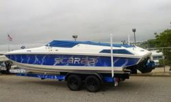 \GREAT SHAPE* HOOK-UPS FOR SHORE POWER* A/C SYSTEM* SHIP O SHORE * GARMIN NAV - DEPTH* BELLOWS (BOTH DRIVES) THIS YEAR* 2 NEW STARTERS* 2 NEW 4BBL EDLBROCK CARBS * ALL NEW SS/ANODIZED FUEL LINES W/PRESSURE GAGES* JUST FLUSHED & CLEANED OUT GAS TANKS THIS