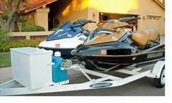 Sea Doo 2005' GTX SC & 2006' RXT SC New Zieman Trailer. Here's your chance to own a pair of jet skis. Both are so clean that they look and run like new. 05' GTX SC 3 seater, 185 HP, SC engine, goes 55 mph. only 53.7 hours. 06' RXT SC 3 seater, 215 HP, SC