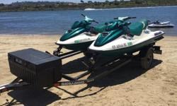 I have SEA DOO GTX jet skis for sale. Comes with double trailer, covers like new, life jackets like new condition. Selling all as a total package. I have titles for all. Cash only. 1997 gtx New Engine 3 hours on it to break it in and it runs great 1996