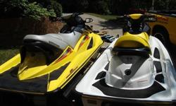 TWO SEA DOO JET SKIS (2006 GTI SE 4 TEC & 2004 GTX SC 4 TEC)Pair of Sea Doo?s sold as a set will not separate, 2006 Sea Doo GTI SE 4Tec 160 HP with 45 hours and 2004 Sea Doo GTX Supercharged 4Tec 200HP with 114 hours. Both ski?s are in immaculate