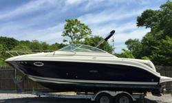 2007 Sea Ray 250 Amberjack 25' cruiser ready for new owner. Re-powered in 2012 with a Mercury Marine 383 MAG Stroker 350 HP Bravo engine, and still under warranty through 2015, less than 200 hours since repower. Everything works, original owner,