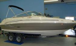 Now you can turn heads while you're making waves. This 200 Sundeck boasts the latest in high-energy style. With exciting new graphics and designer detailing, this handsome runabout will be the talk of the dock. Additional features include a fully equipped