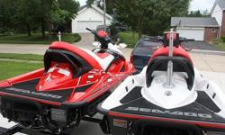 Two SeaDoo 2007 215HP Superchargd 4-StrokeBoth are 3-Passenger very fast and very clean 1- RXT Supercharged with 41 hrs all fresh water use only 1- Wake Edition Supercharged 46hrs fresh water Lake Ozark Missouri Wake edition includes ski tow bar and ski