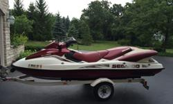2000 SEADOO LRV by BOMBARDIER and Trailer - $4900 cost $12,000 new! + $1000 for trailer BRAND New Rebuilt Engine! With Warranty!!!! Only 176 hours on Jet Ski - less than 1 hour on new engine! SEA-DOO Large, unique waverunner -Seats 4! Good condition,
