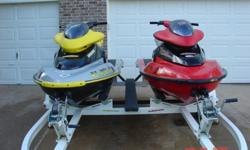 2002 Seadoo XP vin#ZZN44809K102BlackSilver with yellow seat. Speedometer, tachometer, trim and fuel gauges. All gauges work. The trim and bilge pump works. No hour meter, but dealer I bought from in 2007 said approximately 60 hours.I have had them out
