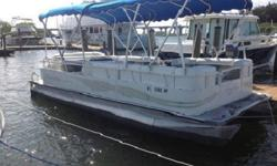 Boat includes SE package, rear entry ladder, full vinyl floor, bimini top, stereo system, full factory boat cover, insulated cooler and more! Keywords- Bennington, Bentley, SunTracker, Tracker, Tahoe, Harris, Hampton, Quest, Weirs, Starcraft, Pontoonboat,