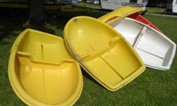 5 Fold-able Boats great for kids, fit in back of van or on top,,, super light weight, very unique only 6 feet long n 3 1/2 wide. Great for fishing small lakes n ponds while on vacation. Only $ 150 and a Bonus by all 5 , get one FREE wow what a deal these