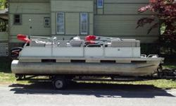 Professionally serviced within the year and professionally winterizedo Tilt does not work, but is never necessary on a pontoon boato Set up to test when you come to view the boat· Bimini Keywords- SeaRay, Sea-Ray, Chapparall, Chris Craft, Cobalt,