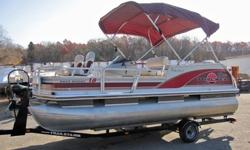 Capacity: 7 Persons or 985lbs.FEATURES:2 folding pedestal fishing seatsBimini top with side curtainsRaymarine L365 fishfinderLivewellAM/FM cassette stereoPower tilt/trim Keywords: pool pools swimming above ground pool above-ground in-ground liner liners