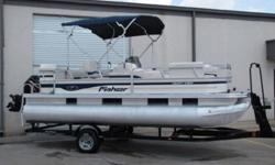 This boat is in good condition! Trailer is in good condition. It has bimini top, livewell, rod holders, porta potty/changing room, cd radio, Humminbird 587 fish finder/Gps combo, and much more! We have a lot of pictures of this boat, so you can see