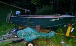 I have a starcraft deep-v 15foot aluminum boat. It had an inboard/outboard 3 cylinder. I patched the hole and cut the front out where the steering was. The hull is in very good shape. The tilt trailer is in mint condition (needs a tire but u can have my