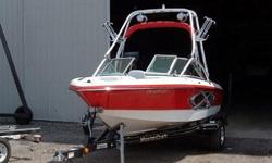 Dry stacked or covered entire life of boat!! 2006 Single axle trailer with brakes. Dry Weight 3050 lbHull Material FiberglassEngine Model 5.7L V8Max Draft 1 ft 10 inEngine Make PredatorFuel Capacity 33 galStainless rubrail, transom saver, and cover.