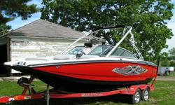 Length (Feet): 22.0 Primary Fuel Type: Gas Fuel Capacity (Gallons): 21-30 The hull, motor, interior, prop, and transmission are all in excellent (like new) condition.Only 303 Hours. Includes Wakeboard Tower, Bimini Top, and Custom Pro Cover. The middle