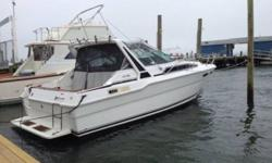 Superb 1989 Sea Ray Sundancer 3001989 300 sundancer with twin 5.7 mercruiser alpha 1 enginessleeps 612v or 120 v refrigerator/ freezerstereoTop speed on boat 45mph cruises at 26mphhot water heatershower3 deep cycle marine batteriesAIR conditioning and