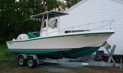 Superb 1992 Mako 221 Center Console. 2005 Etec 200HO. Stanless Steel Prop. Lowrance GPS and Seperate Lowrance Fish Finder. Sony Radio w/ external hook ups. T-Top w/ 5 rod holders. Hull recently buffed out. Bottom recently stripped and repainted with