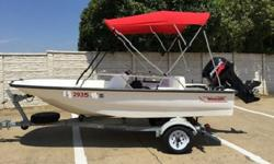 SEATS AND FLOOR) COMES WITH A LIKE NEW MERCURY 60HP 4 STROKE MOTOR. PLEASE REVIEW MY PICTURES, THIS BOAT IS IN VERY NICE SHAPE BUT HAS FLAWS HERE AND THERE IT IS NOT A NEW BOAT... THE UPPER DECK WAS REPAINTED AT ONE TIME IN ITS LIFE, THE INTERIOR IS NICE