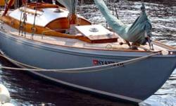 1956 Tore Holm, Swedish built sloop. Mahogany over oak, teak decks, all originally restored. Equipment retained, essential equipment and electronics upgraded. Copper riveted, 2006. New bronze keel-bolts. Rebuilt engine. Sails are like new, single season