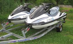 TWO-2003 YAMAHA FX-140 WAVERUNNERS ON DOUBLE TRAILER1. IS A 2003 YAMAHA FX-140 WITH 64HRS IN MINT CONDITION READY TO GO! WITH FACTORY COVER2.IS A 2003 YAMAHA FX-140 WITH 82HRS ALSO IN MINT CONDITION READY TO GO! WITH FACTORY COVER3.IS A 2003 DOUBLE