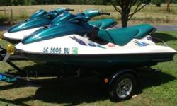 Two 1997 Sea Doo GTX Jet Ski's with Com Fab Double Trailer Two 1997 Sea Doo GTX Jet Ski's with a like new Double Ski Com Fab Trailer. These boats are made for up to 3 passengers each. They are both very fast and tons of fun to play on. Both of these boats