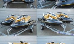 WE HAVE UP FOR AUCTION TWO- 2006 SEADOO RXP BOTH WITH HAVE UNDER 70HRS !! SUPER CLEAN ,ADULT OWNED AND RIDDEN,HAS BOTH LEARNER AND ADVANCE KEY,HAVE COVER,PLUS FACTORY FLUSH, SKI'S ARE READY TO GO! FOR NEXT SEASON 215HP SUPERCHAGED ,OUT OF TAGS:BLACK BOX