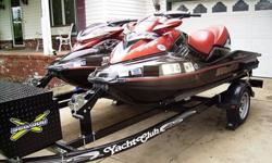 I am selling two beautiful Sea-Doo jet skiis. One is a 2006 RXP 4-Tec four stroke supercharged 215 hp. 2 seater w/ 71 hours on it. The other is a 2006 RXT 4-Tec four stroke supercharged 215 hp. 3 seater w/ 72 hours on it. Both Sea-Doo's are in excellent