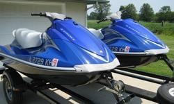 Two, freshwater, four stroke, 2007 Yamaha VX Deluxe in excellent condition. They have been stored in a heated garage and are in excellent condition with 53 and 58 hours. There are a few scratches on the hull bottoms but the decks are in excellent