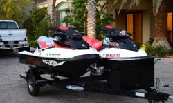 Two Sea Doo Wake 215swith 2008 Ziem Trailer Both watercrafts just received full service by local dealer. (2) Sea Doo watercraft custom fit covers.(4) life safety vests(1) Sea Doo ballast system for 2008 watercraft.2011 Sea Doo Wake Pro 215 ? HOURS 352008