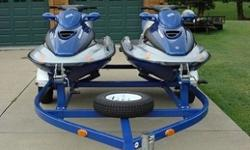 watercraft from damage.Bow and stern eyes Designed for towing or securing craft to a trailer or dock.|Model Year 2001 Model GTX Color blue Engine Two-stroke, Twin-Cylinder Rotax R.A.V.E. exhaust Displacement 951 cc (58.0 cu in)Bore x Stroke 88mm x 78.2mm