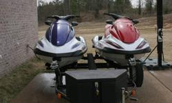 I AM SELLING MY TWO 2004 YAMAHA WAVERUNNERS BECAUSE MY DAUGHTER IS GROWN UP AND LOST INTEREST IN WATER SPORTS. THE BLUE UNIT IS A FX140HO, WHICH IS A 160 HORSEPOWER FOUR STROKE MOTOR WITH REVERSE. IT HAS DIGITAL DASHBOARD, TONS OF STORAGE SPACE, TILT