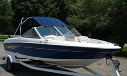 This boat is in excellent condition with many options included. stereo, keel guard, bimini top for shade and more. Powered by a Mercruiser 3.0L 135 hp and is priced for a quick sale! Call or text (707) 602-XXXXDeep hull depth/freeboard for dry ride and