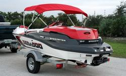 You are looking at a very clean 2007 Sea Doo Speedster 150. This jet boat is 15' long and has 155hp Rotax 4-Stroke motor. She runs like a top and has super low hours, ONLY 19!! We do a compression test on every boat in our inventory to ensure reliability