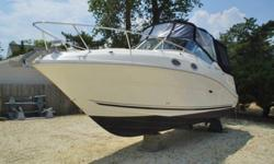 2006 Sea Ray 260 SUNDANCER .This is is a very nice boat for family getaways.You will not be disappointed with this very well equipped boat. Complete with Air Conditioning, Camper top and Anchor Windlass. There are approximately 125 hours on the engine.