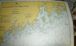 Holy Pirates Treasures, Batman! Here's some items to get your Nautical Freak on with; Vintage Laminated Nautical Map Placemats These come from AmericaMark, and the Department of Commerce, United States of America, and they are all New England-centric; C-1