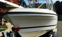 "_)!#~@:""#!VERY GOOD CONDITION, LOW HOURS ON BOAT AND MOTOR, MODEL YEAR 1994 AWESOME ROBALO MODEL 2160 ,WONT FIND A NICER ONE,THIS IS A Big and rugged, DEEP V-HULL, "",RAW WATER WASHDOWN,,TRIM TABS,self bailing hull, Excellent condition HARD TOP.