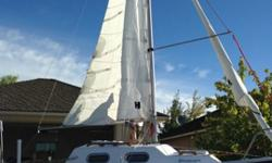 Selling 19' West Wight Potter Sailboat, 2014 year make, on an EZ Loader Boat Trailer. Not enough wind where we live when we have time off.Sailed very few times. Toilet still in box unopened.Tahatsu Outboard Motor, 4 stroke, 3JE (MFS8CS) 4.41 kW, 5500