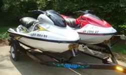 Yamaha 2005 GPR800 & 1997 GP1200 Com-Fab TrailerThese are real clean looking and great running ski's. Both ski's have been serviced and are ready to ride!The 2005 Yamaha GPR800, is silver and yellow in color. It comes with a factory cover. The ski had the