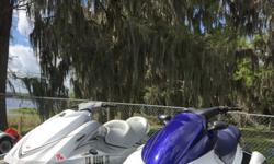 2005 Yamaha VX 1100 4 stroke in great shape few dock scrapes.. New seat last year ... Custom Sunbrella Plus Cover. Keeps all the rain out! Runs excellent and has 187 Hours on it. Next is 2009 Yamaha VX Cruiser 4 stroke with 47 Hours Few dock scrapes runs