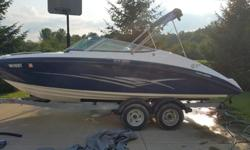 Hello,I am selling a like new Yamaha SX 2012 for a family friend who does not know how to sell online. He has recently had a baby and does not have time for the boat anymore. It is clean and only has 34 hours on each motor. He purchased it brand new and
