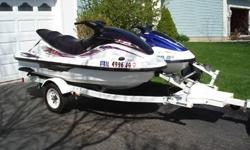 Yamaha 1999 XLT1200 3 seater WaveRunner and 1998 Yahama GP1200 2 seater WaveRunner with white trailer. Both in good running condition. Have some surface scratches and normal wear. Sell both with the trailer, will not seperate. Yamaha 1999 XLT1200 runs
