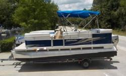 they give the SW 2286 the muscle the boat needs to pull aggressive watersports fanatics. ObservationsGodfrey did a fine job on the Sweetwater SW 2286, creating a comfortable boat that is easy to use, and easy to handle. These characteristics make it a
